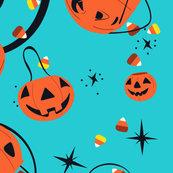 Halloween Magic Lg Scale-Turquoise