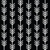 arrow stripes // blackest black