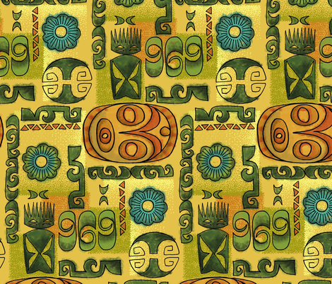 Huli Huli fabric by woodyworld on Spoonflower - custom fabric