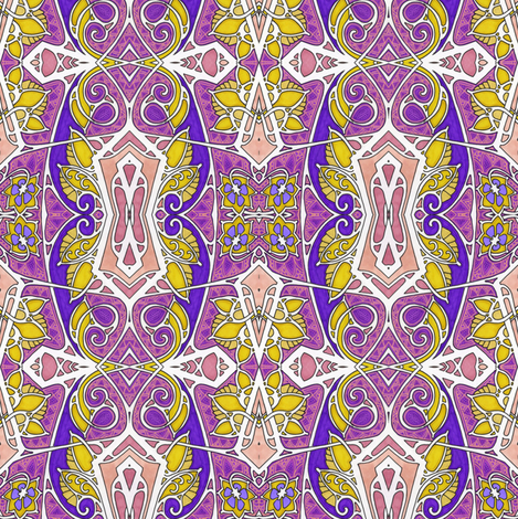 Scallops and Bows fabric by edsel2084 on Spoonflower - custom fabric
