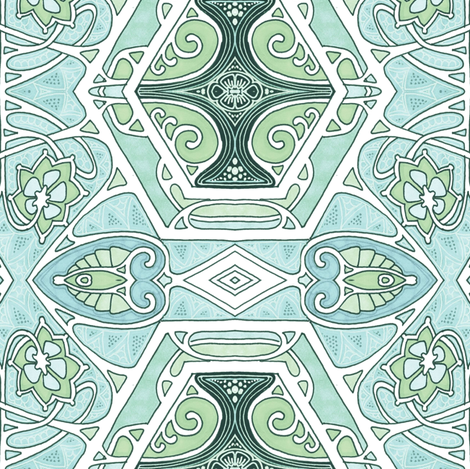 What Planet Makes Green Snow? fabric by edsel2084 on Spoonflower - custom fabric