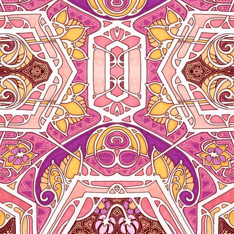 Swirl Meets Bud fabric by edsel2084 on Spoonflower - custom fabric