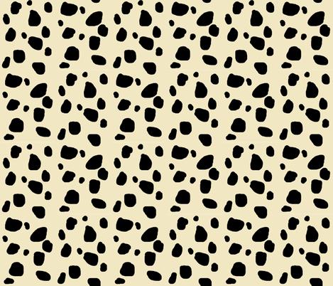 Cheetah spots MEDIUM  - ivory- fabric by drapestudio on Spoonflower - custom fabric