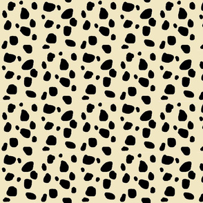 Cheetah spots MEDIUM  - ivory-