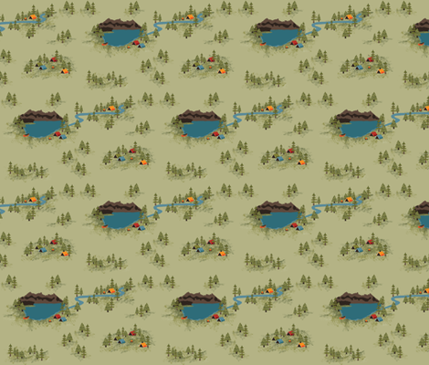 Great Outdoors Camping fabric by laine_and_leo on Spoonflower - custom fabric