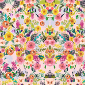 Autumn Blooms Painted Floral // Pink