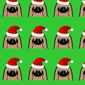 Pekingese Santa Clause