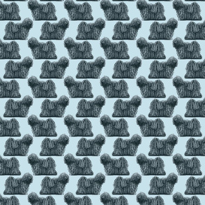 Small standing Puli - blue