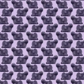 Small standing Puli - purple