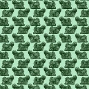 Small standing Puli - green