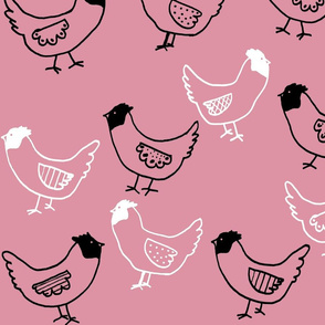 Cluck Cluck on Pink