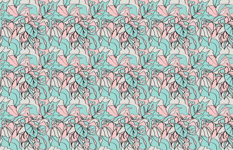 Pastel Botanical I fabric by katrina_ward on Spoonflower - custom fabric