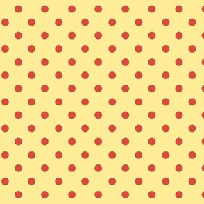 Polka Dot Lucy's Red and Yellow (Tiny)