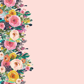 Autumn Blooms Floral Border // Lt. Peachy Pink
