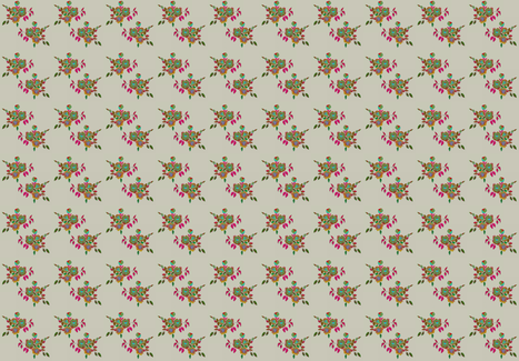 Boho Rose fabric by adeline_country_cottage on Spoonflower - custom fabric