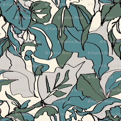 Pastel Botanical Greens