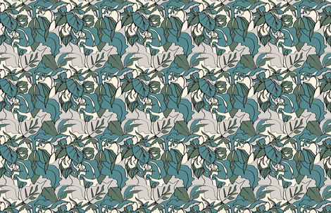 Pastel Botanical Greens fabric by katrina_ward on Spoonflower - custom fabric