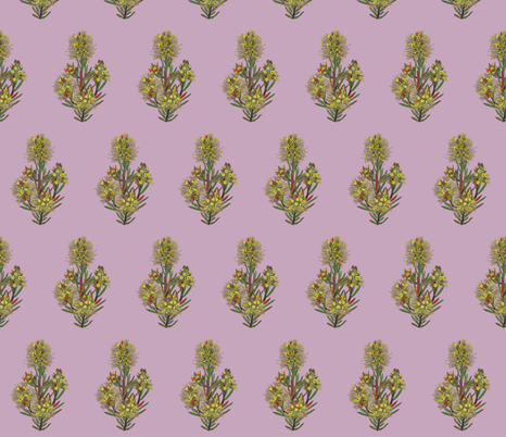 2941 Lemon Bottlebrush#1-Mauve fabric by jennieholtsbaumdesign on Spoonflower - custom fabric