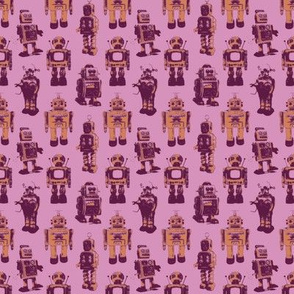 robots (yellow and maroon)