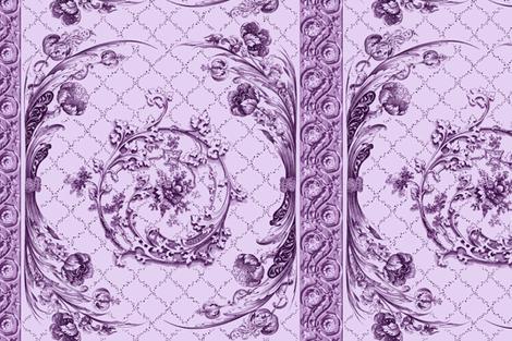 engraved tulips elderberry wine fabric by keweenawchris on Spoonflower - custom fabric