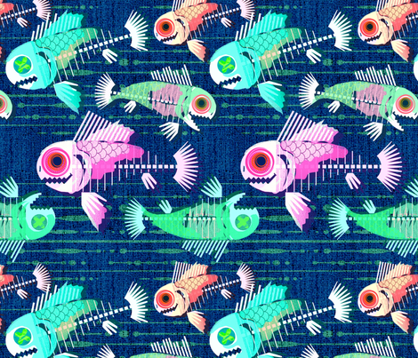 Zombie Fishes fabric by abbieuproot on Spoonflower - custom fabric