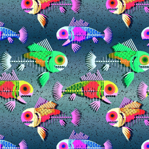 zombie fishes 80s vibe