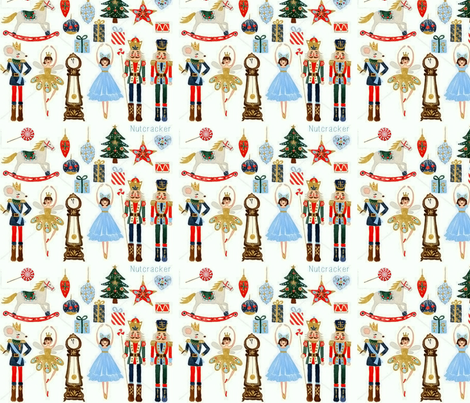 Nutcracker Christmas fabric by floramoon on Spoonflower - custom fabric