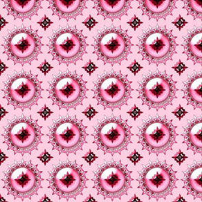 Allan's fleur de lis pink