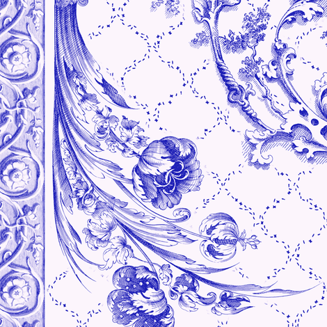 engraved  tulips wild grape fabric by keweenawchris on Spoonflower - custom fabric