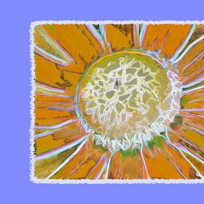 sunny flower calendar tea towel