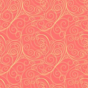 Project 51 |   Filigree Swirls | Gold on Peach