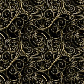 Project 51 |   Filigree Swirls | Gold on Black