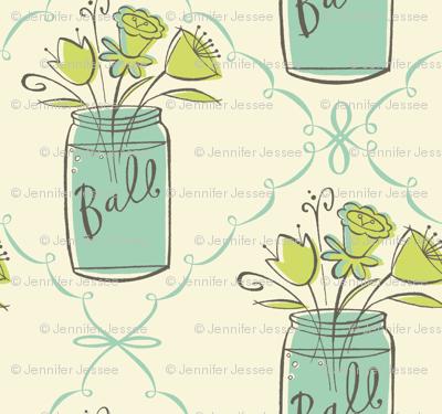 ball jar bouquet