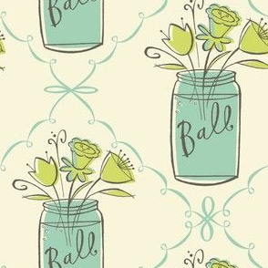 ball jar bouquet