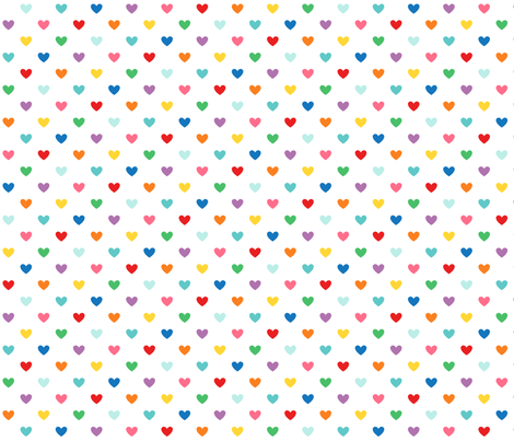 rainbow hearts XL fabric by misstiina on Spoonflower - custom fabric