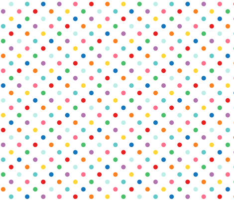 rainbow polkas XL fabric by misstiina on Spoonflower - custom fabric