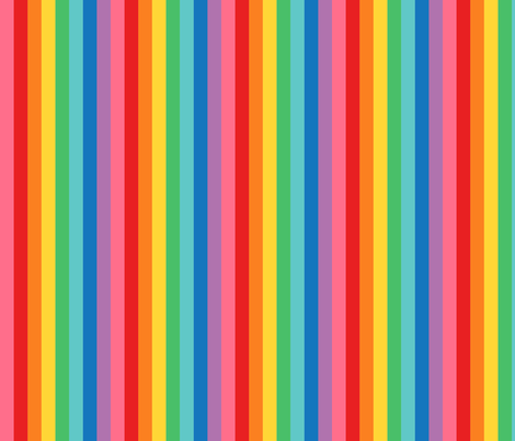 rainbow stripes 2 vertical XL fabric by misstiina on Spoonflower - custom fabric