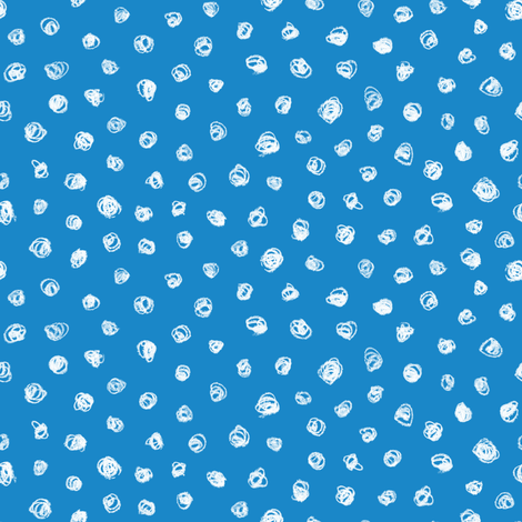 chalk polkadots on butterfly blue fabric by weavingmajor on Spoonflower - custom fabric