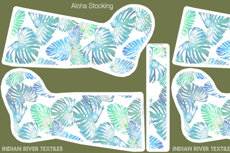 Oceania Monstera FQ Stocking fabric by kadyson on Spoonflower - custom fabric