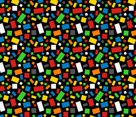 Building Brick Scatter fabric by designedbygeeks on Spoonflower - custom fabric
