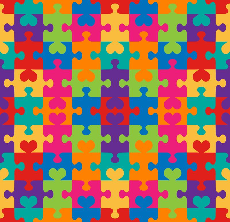 Puzzle Hearts Wallpaper