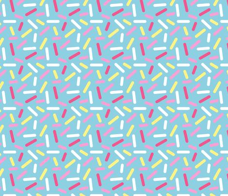 Donut Blue Sprinkle fabric by heatherhightdesign on Spoonflower - custom fabric