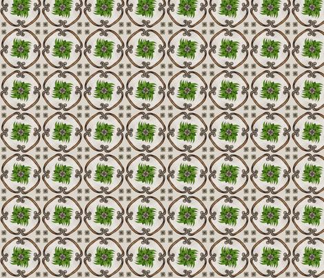 Leaf_grid fabric by gardenia_bush on Spoonflower - custom fabric