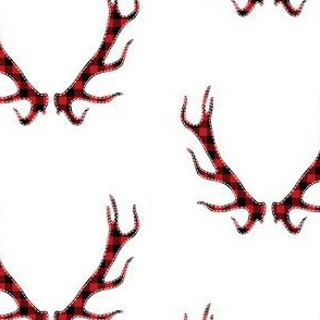 Plaid Deer Horns