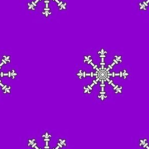 Purpure, an Escarbuncle Argent