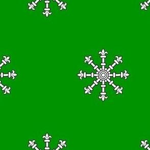Vert, an Escarbuncle Argent