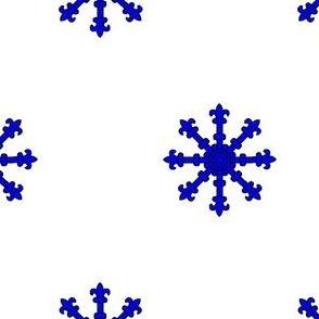 Argent, an Escarbuncle Azure