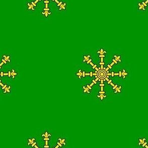 Vert, an Escarbuncle Or
