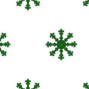 Argent, an Escarbuncle Vert
