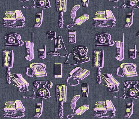 Phones phones phones pinks fabric by abbieuproot on Spoonflower - custom fabric